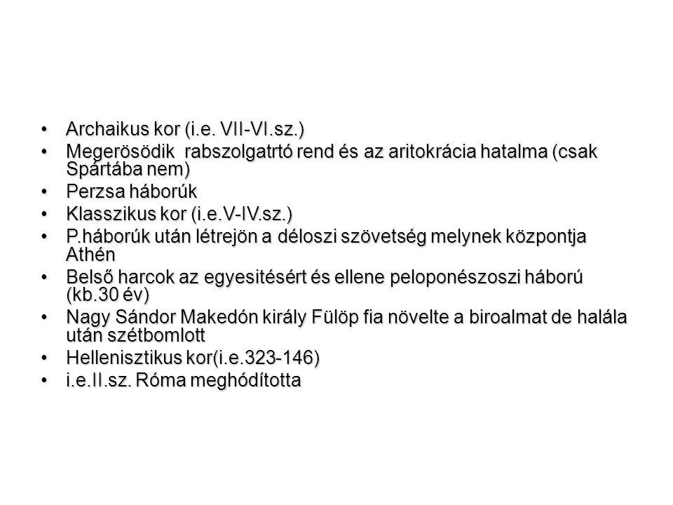 •Archaikus kor (i.e.