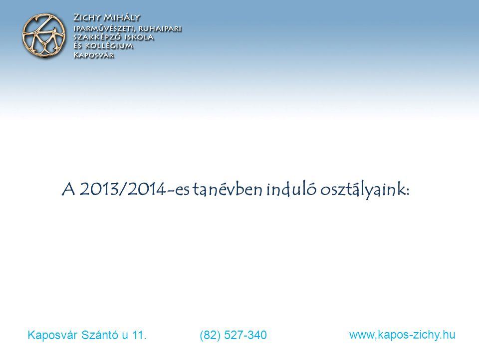 Kaposvár Szántó u 11.(82) 527-340 www,kapos-zichy.hu Speciális felvételi eljárás Összes szerezhető pont tehát: Humán szakközépiskolai osztályba: 100 p Párhuzamos képzésre: 34 + 80 = 114 p Ezek alapján alakul ki a rangsor!