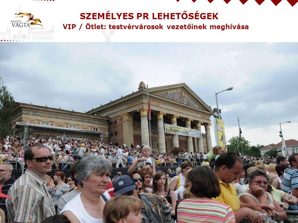 SZEMÉLYES PR LEHETŐSÉGEK VIP / Ötlet: testvérvárosok vezetőinek meghívása