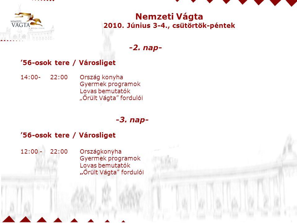 Nemzeti Vágta 2010.Június 3-4., csütörtök-péntek -2.