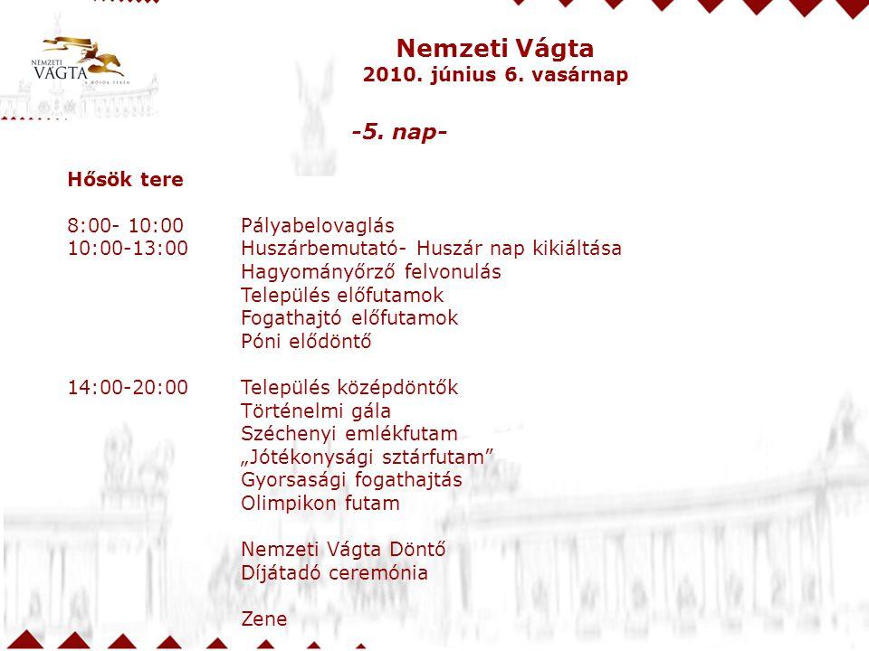 Nemzeti Vágta 2010.június 6. vasárnap -5.