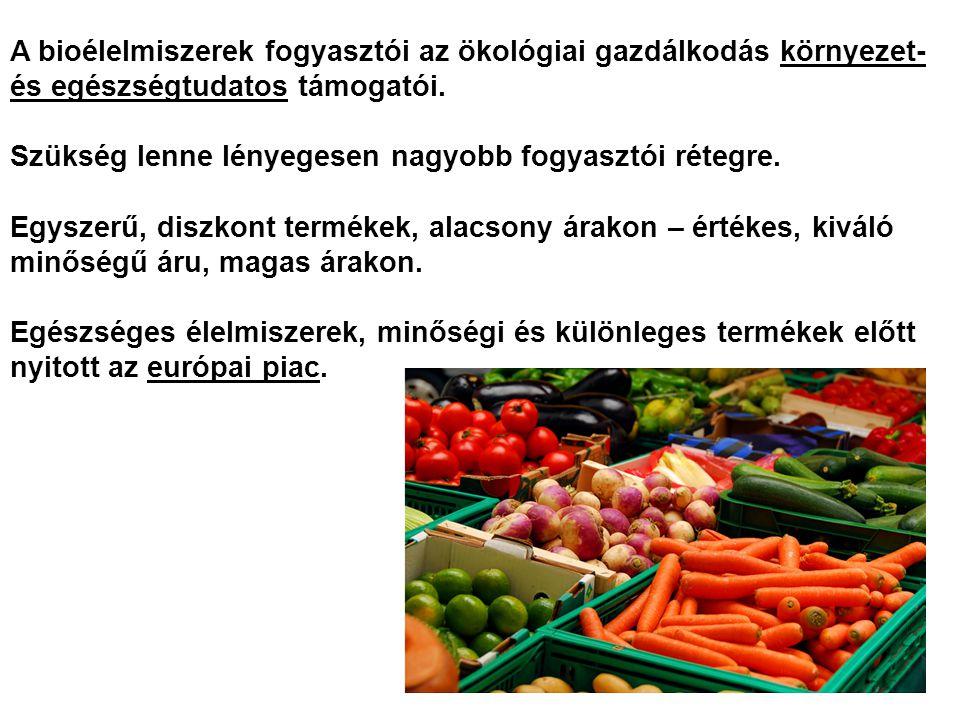 A bioélelmiszerek fogyasztói az ökológiai gazdálkodás környezet- és egészségtudatos támogatói.