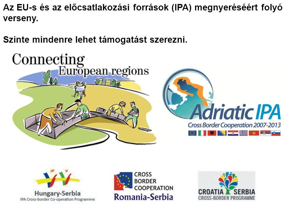 Az EU-s és az előcsatlakozási források (IPA) megnyeréséért folyó verseny.
