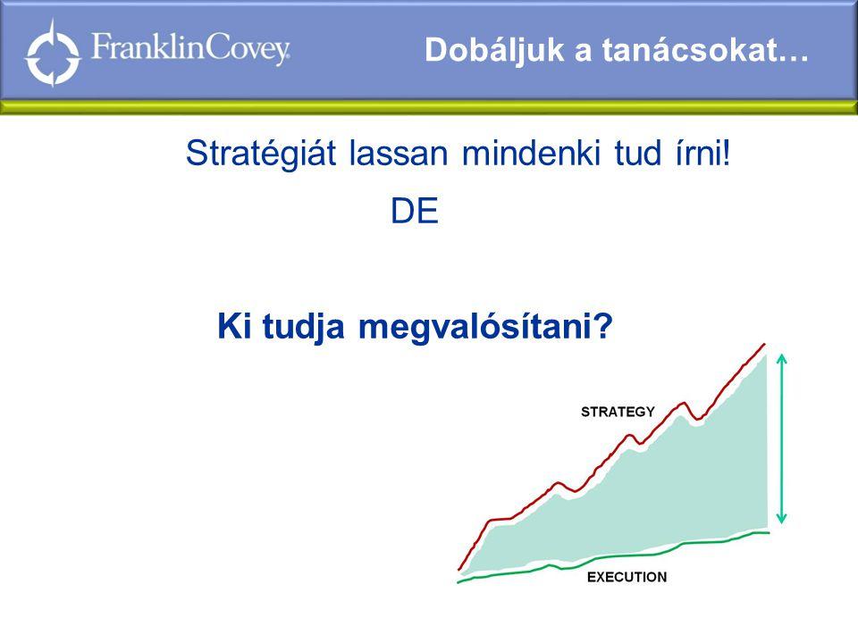 Stratégiát lassan mindenki tud írni! DE Ki tudja megvalósítani? Dobáljuk a tanácsokat…