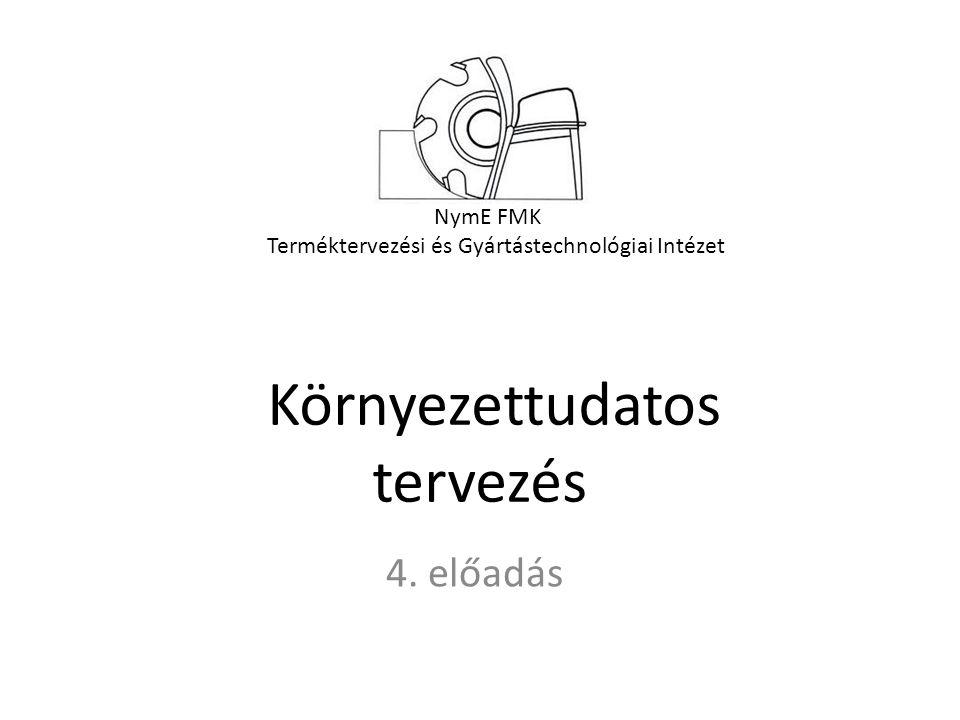 NymE FMK Terméktervezési és Gyártástechnológiai Intézet Környezettudatos tervezés 4. előadás