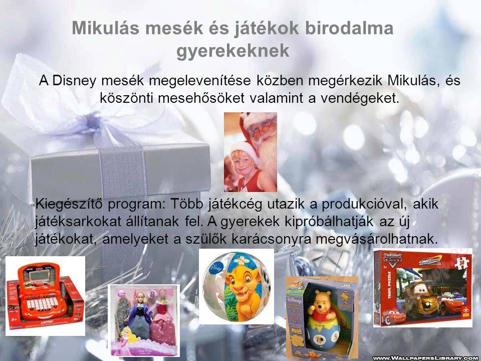 Animációs ajánlatunk az ünnepre •Kézműves foglalkozás (karácsonyi mézeskalács-dísz sütés, gyertyamártás, angyalszárny díszek készítése, kézzel vart karácsonyfadíszek készítése, karácsonyfadísz készítés gyöngyből, karácsonyi angyalok készítése termésből •Adventi koszorú készítés •Szánhúzó verseny •Vízi Torna •Szárazföldi Torna •Relaxációs torna, nyújtás karácsonyi zenékre •Vetélkedők •Esti társasjátékok