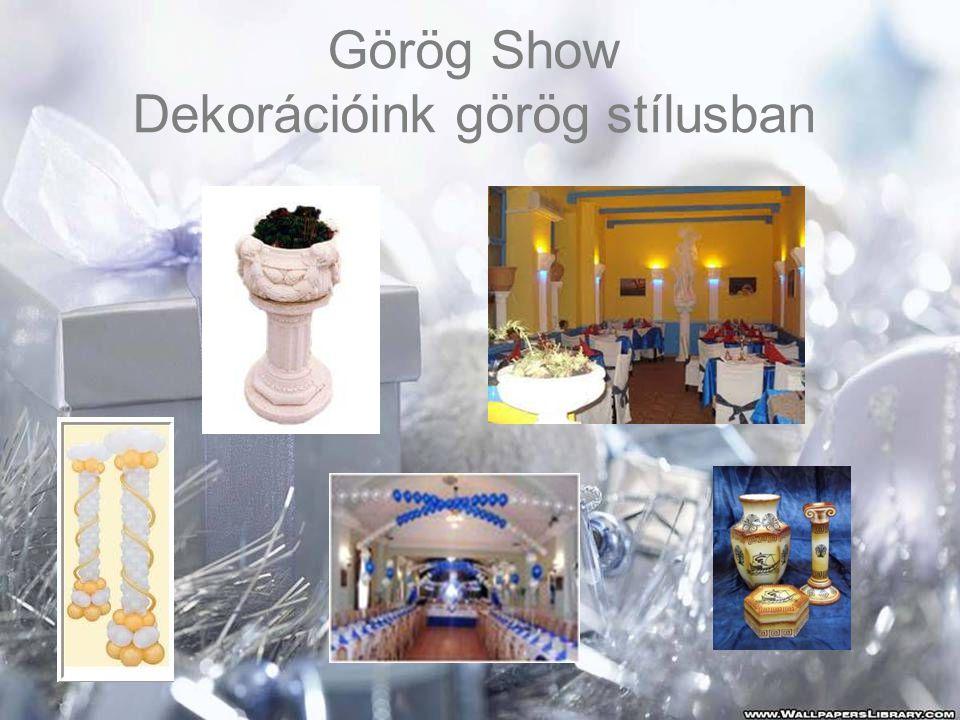 Görög Show Dekorációink görög stílusban