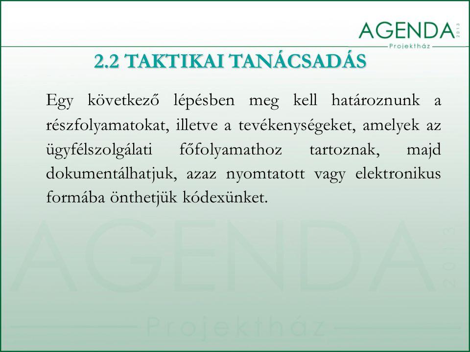 Egy következő lépésben meg kell határoznunk a részfolyamatokat, illetve a tevékenységeket, amelyek az ügyfélszolgálati főfolyamathoz tartoznak, majd d