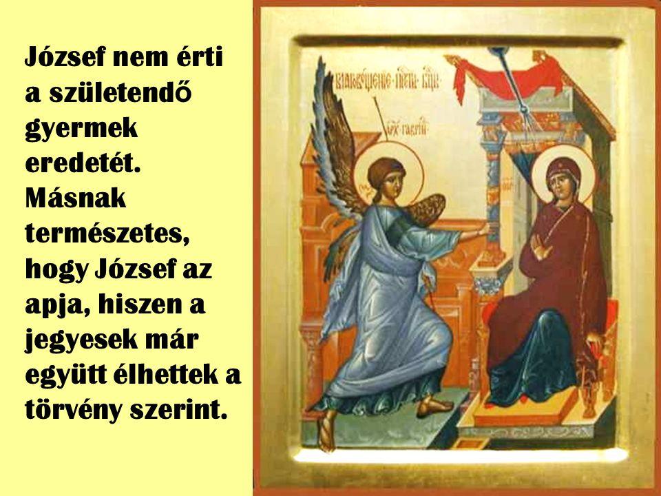 Mária el volt jegyezve egy szintén ismeretlen emberrel, Józseffel. Semmi rendkívüli nem volt az életükben. Az Isten nem szereti a rendkívüli dolgokat.