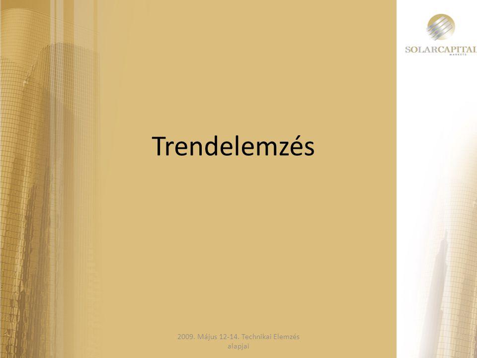 Trendelemzés 2009. Május 12-14. Technikai Elemzés alapjai