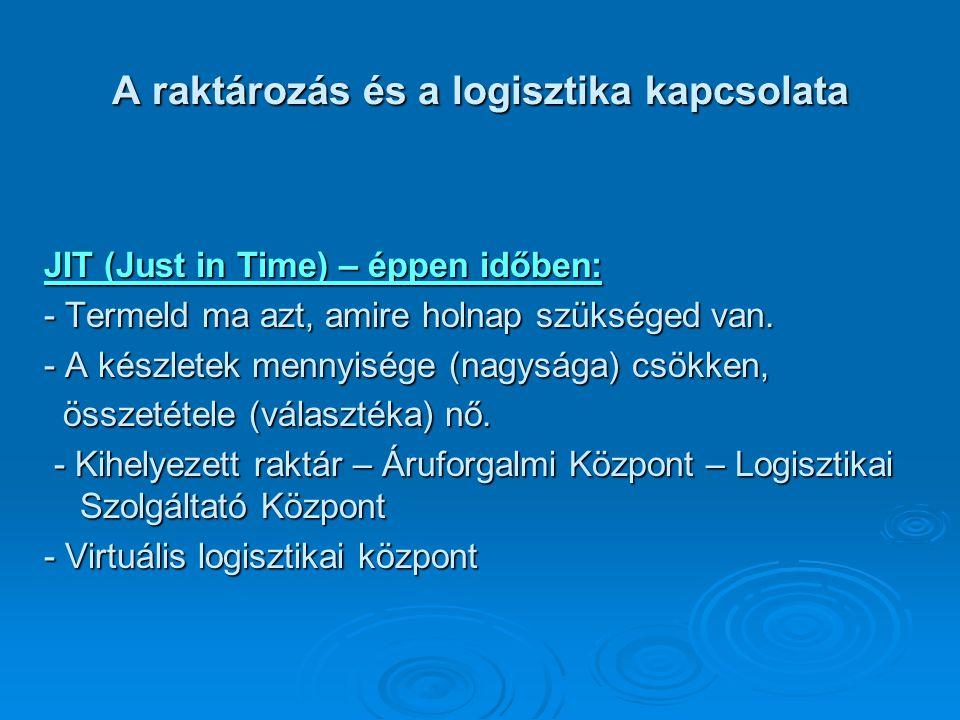 A logisztikai szolgáltatási színvonal fő meghatározó elemei Szállítási idő: a megrendeléstől a megrendelőhöz való szállításig eltelt idő.