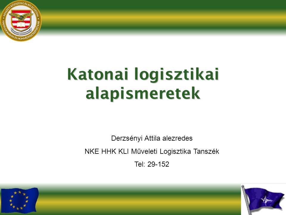 Derzsényi Attila alezredes NKE HHK KLI Műveleti Logisztika Tanszék Tel: 29-152