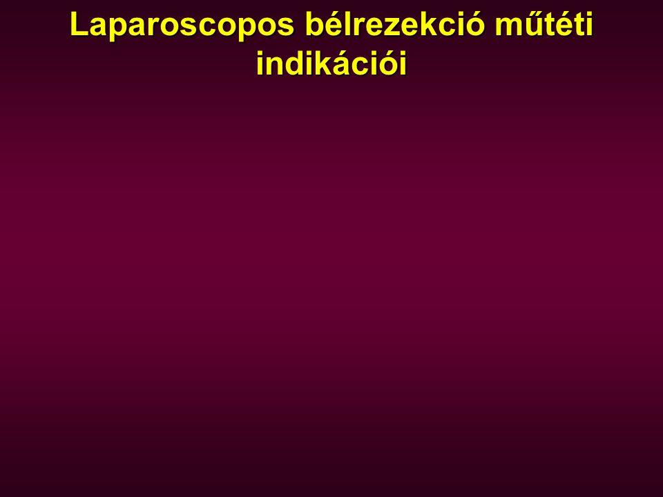 Laparoscopos bélrezekció műtéti indikációi