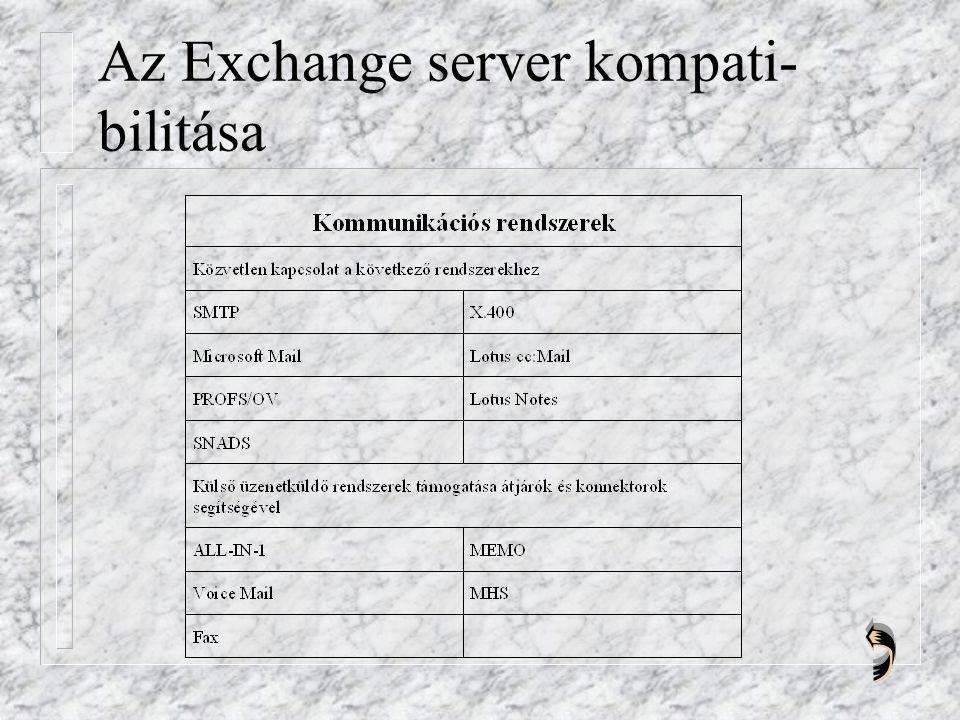 Az Exchange server kompati- bilitása