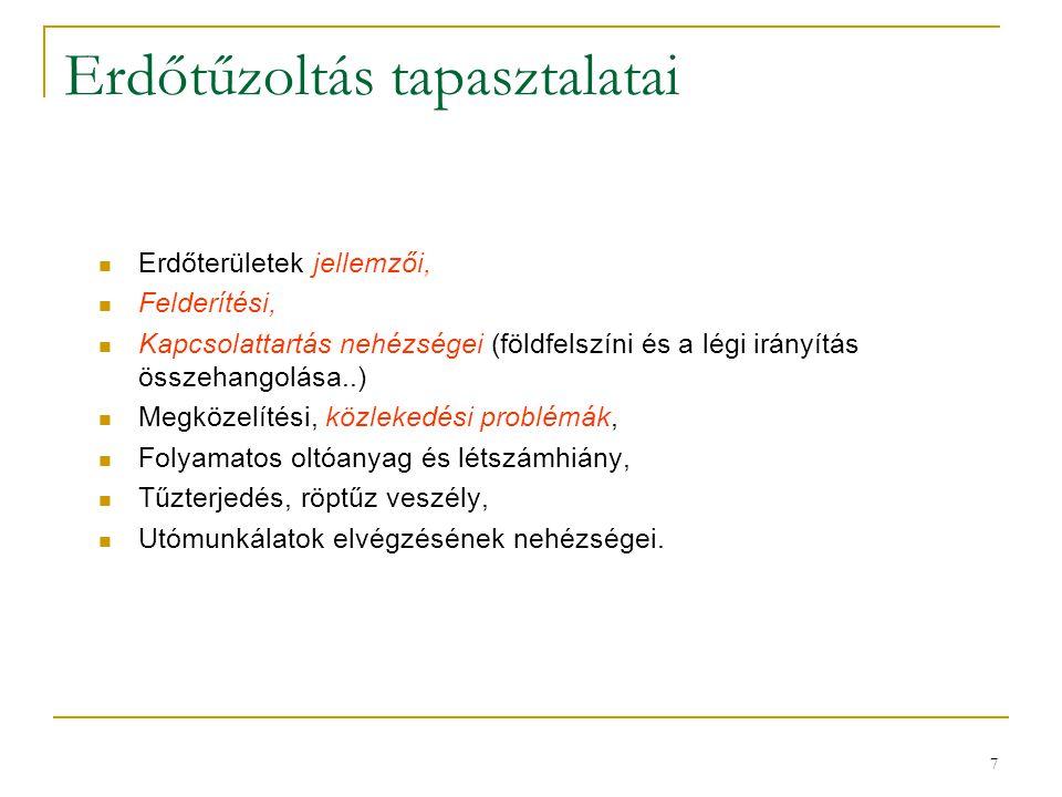 8 Erdőtüzes szerek Magyarországon  Sok parancsnokág a régi, kiöregedett, hagyományos szerét vagy egyéb gépjárművét tartja rendszerben erdőtüzes szerként.