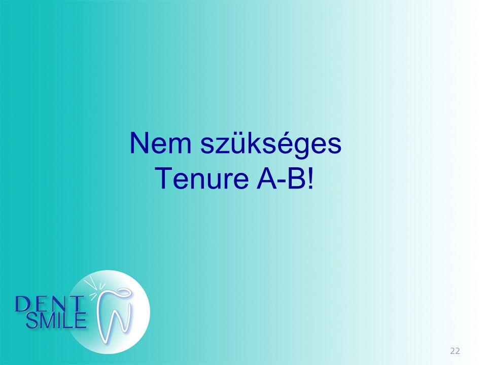 22 Nem szükséges Tenure A-B!