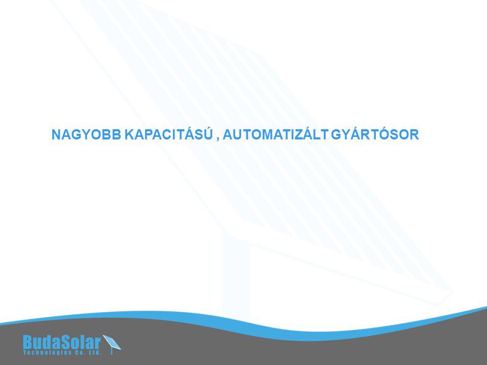NAGYOBB KAPACITÁSÚ, AUTOMATIZÁLT GYÁRTÓSOR