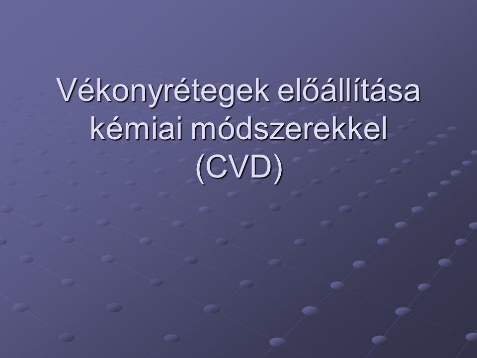 Vékonyrétegek előállítása kémiai módszerekkel (CVD)