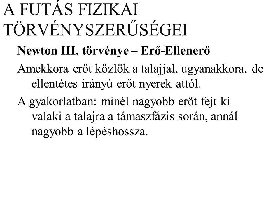 A FUTÁS FIZIKAI TÖRVÉNYSZERŰSÉGEI Newton III.