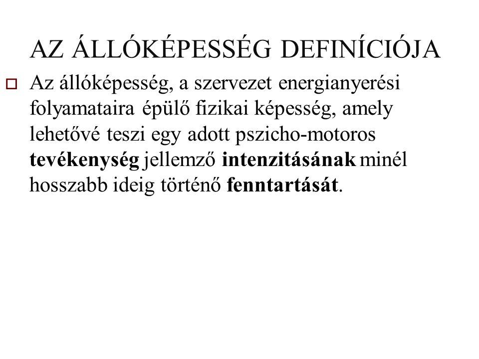 ÁLLÓKÉPESSÉG FEJ- LESZTŐ MÓDSZEREK FOLYAMATOS MÓDSZER VÁLTAKOZÓ SEBESSÉGGEL (FARTLEK) GÖSTA HOLMER, SVÉDORSZÁG, '30-AS ÉVEK IRÁNYÍTOTT FARTL.