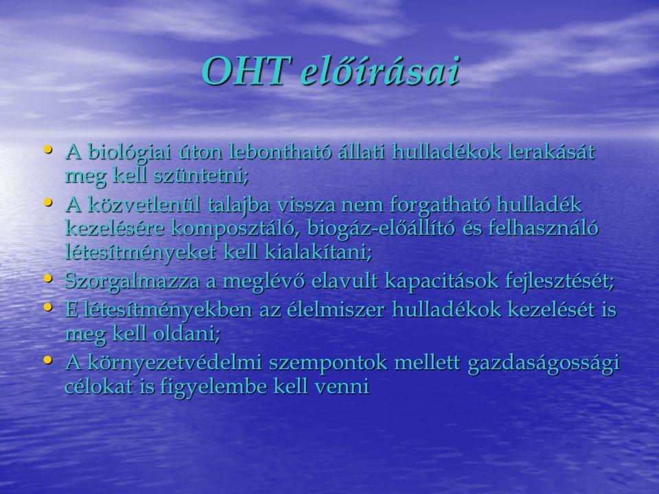 Jogszabályi előírások I.• A 71/2003.