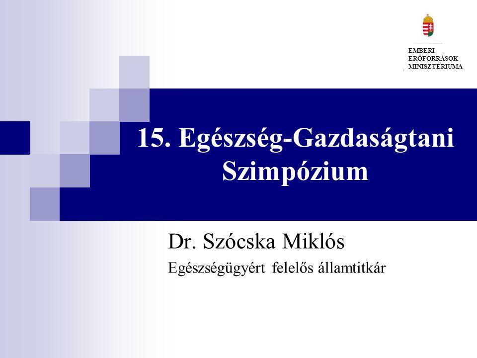 15. Egészség-Gazdaságtani Szimpózium Dr.