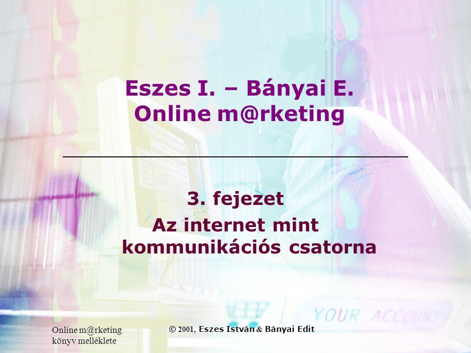 Online m@rketing könyv melléklete © 2001, Eszes István & Bányai Edit Eszes I.