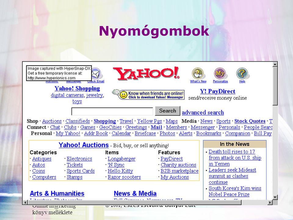Online m@rketing könyv melléklete © 2001, Eszes István & Bányai Edit Nyomógombok