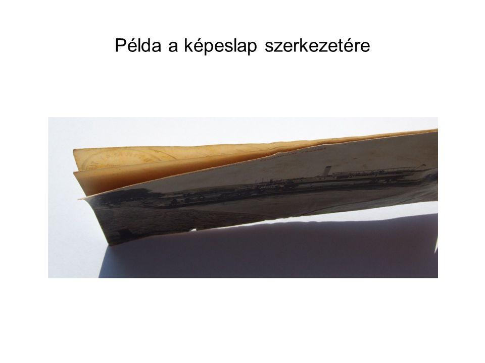 Példa a képeslap szerkezetére