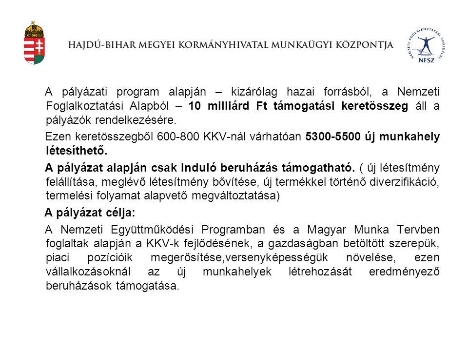 A munkaügyi központok a központi forrásra vonatkozó kérelmeiket 2012.