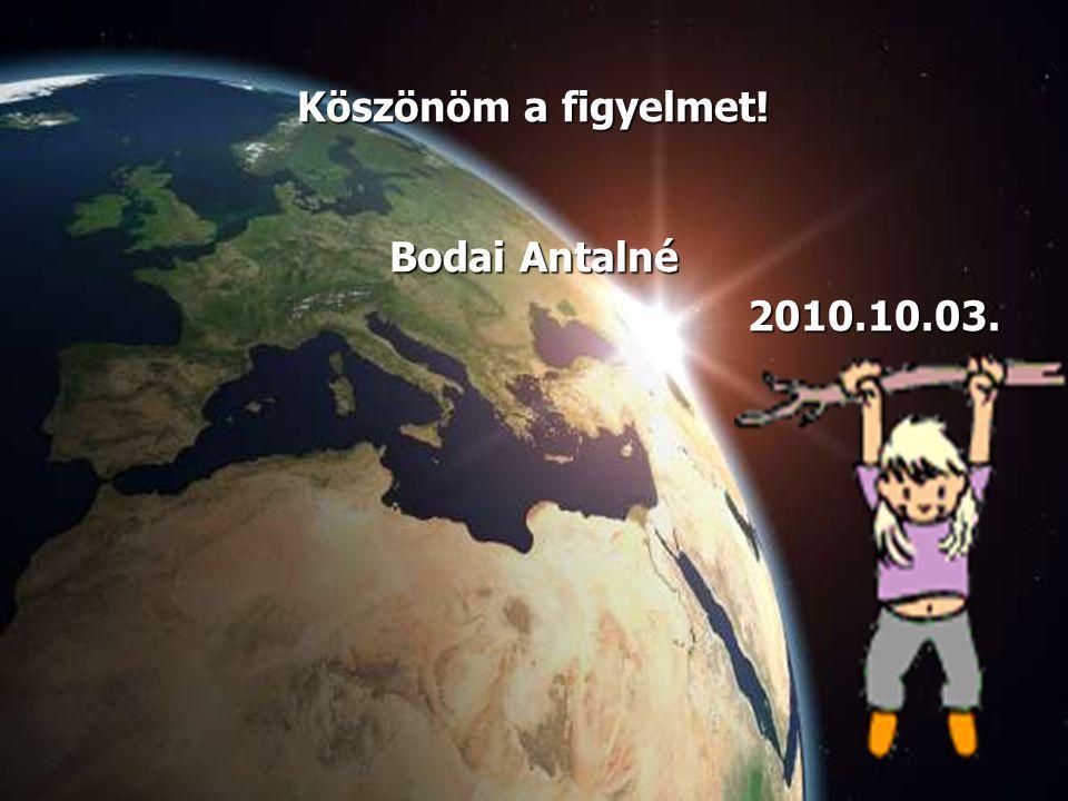 Köszönöm a figyelmet! Bodai Antalné 2010.10.03.