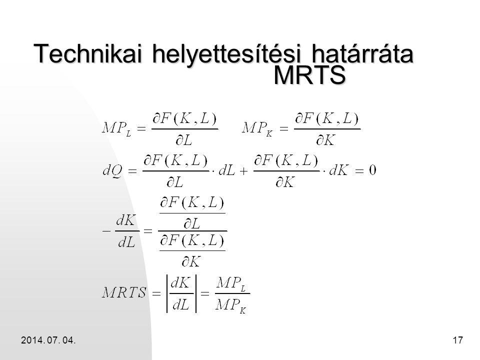 2014. 07. 04.17 Technikai helyettesítési határráta MRTS