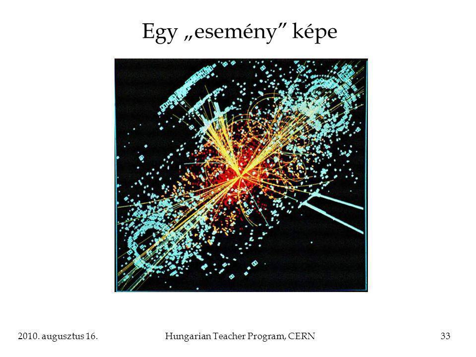 "2010. augusztus 16.Hungarian Teacher Program, CERN33 Egy ""esemény képe"