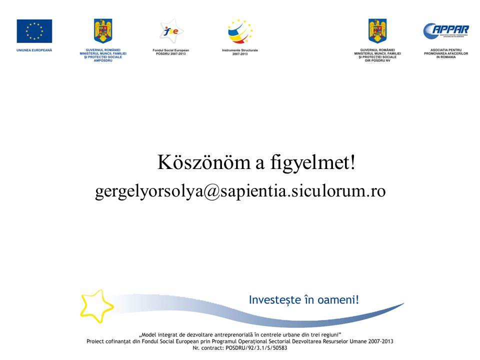 Köszönöm a figyelmet! gergelyorsolya@sapientia.siculorum.ro