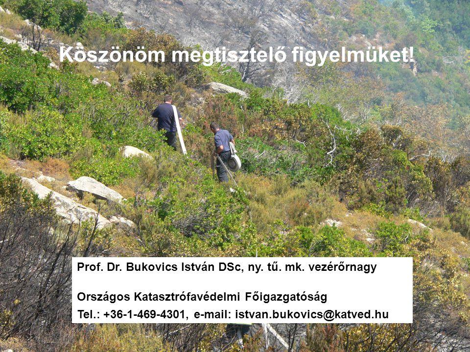 Köszönöm megtisztelő figyelmüket. Prof. Dr. Bukovics István DSc, ny.