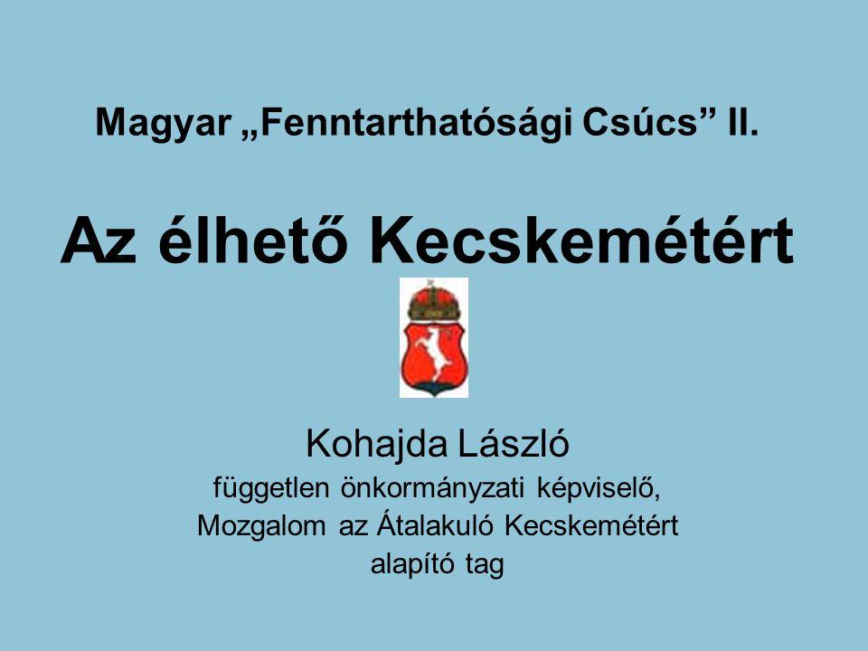 """Magyar """"Fenntarthatósági Csúcs II."""