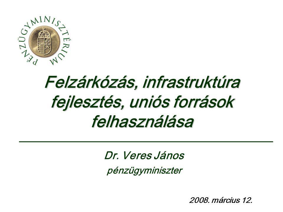 Felzárkózás, infrastruktúra fejlesztés, uniós források felhasználása 2008.