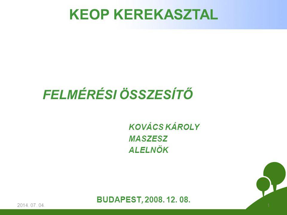 FELMÉRÉSI ÖSSZESÍTŐ KOVÁCS KÁROLY MASZESZ ALELNÖK 2014.