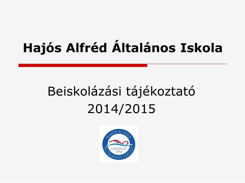 Hajós Alfréd Általános Iskola Beiskolázási tájékoztató 2014/2015