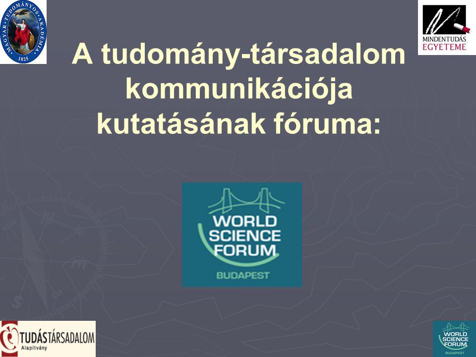 A tudomány-társadalom kommunikációja kutatásának fóruma: