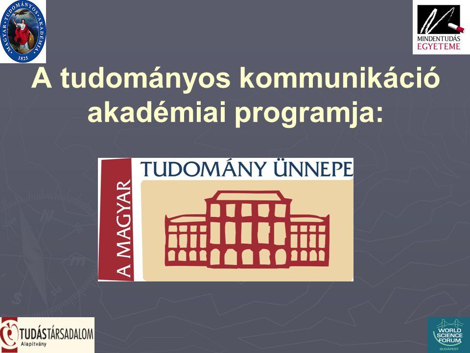 A tudományos kommunikáció akadémiai programja: