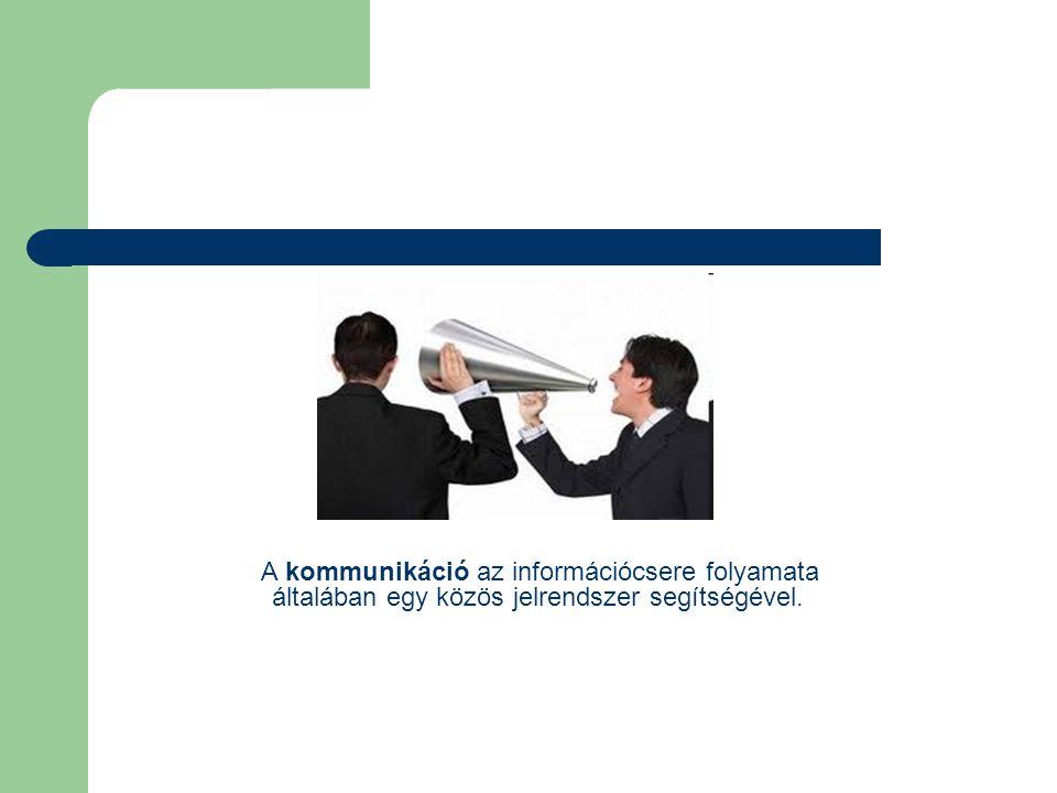 A kommunikáció fogalma Mindenek előtt definiáljuk a kommunikáció fogalmát: kommunikáció - az információ, vagy az üzenet átvitele az egyik helyről a másikra A kommunikációhoz az alábbi fő elemek szükségesek: •adó - a jelek továbbítására szolgáló berendezés, az információforrás helyén •vevő - a jelek vételére szolgáló berendezés, azon a helyen, ahol szükség van a küldött információra •összeköttetés - az adó és a vevő közti közeg, amely átviszi, közvetíti az üzenetet Egy kommunikációs rendszer blokkdiagramja A telekommunikáció A telekommunikáció definíció szerint a nagy távolságra történő kommunikáció.
