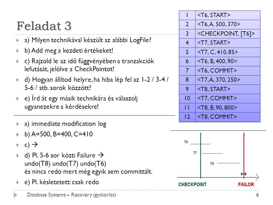Feladat 3  a) Milyen technikával készült az alábbi LogFile.