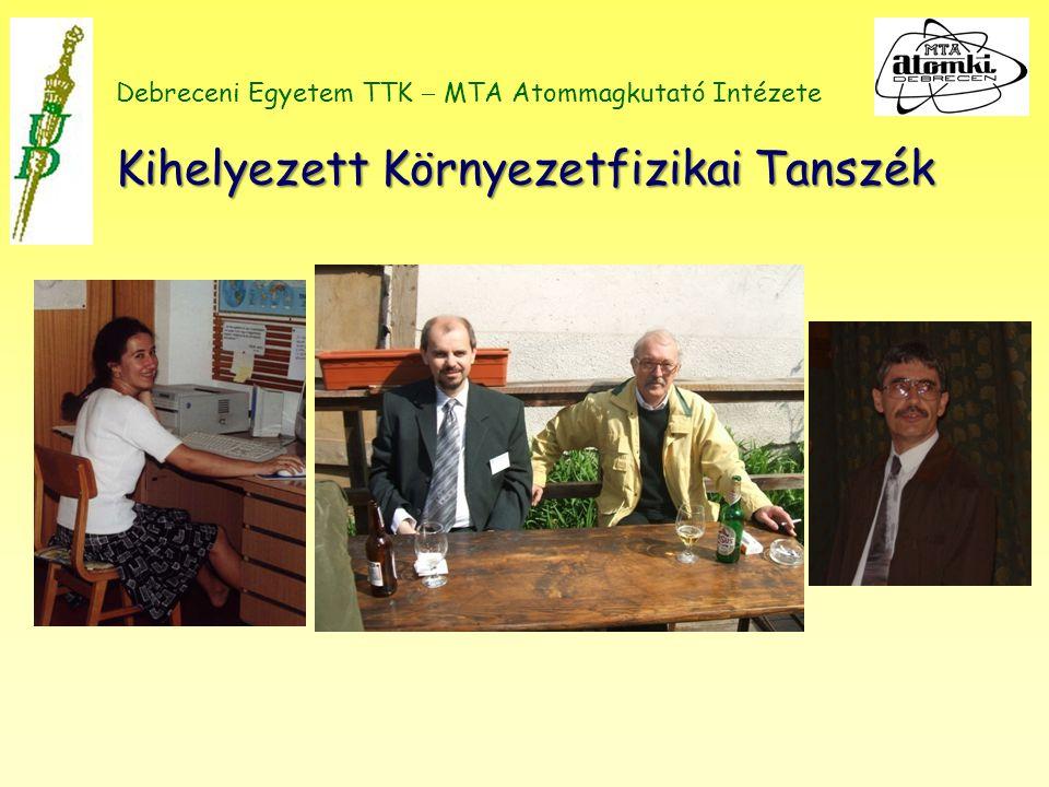 Kihelyezett Környezetfizikai Tanszék Debreceni Egyetem TTK  MTA Atommagkutató Intézete Kihelyezett Környezetfizikai Tanszék