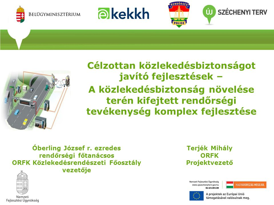 Illeszkedés az EB célkitűzéseihez A magyar Közúti Közlekedésbiztonsági Akcióprogram az EU-s és a Magyar Közlekedéspolitikai törekvésekhez illeszkedve fogalmazza meg az első három év beavatkozási irányait és lehetőségeit.