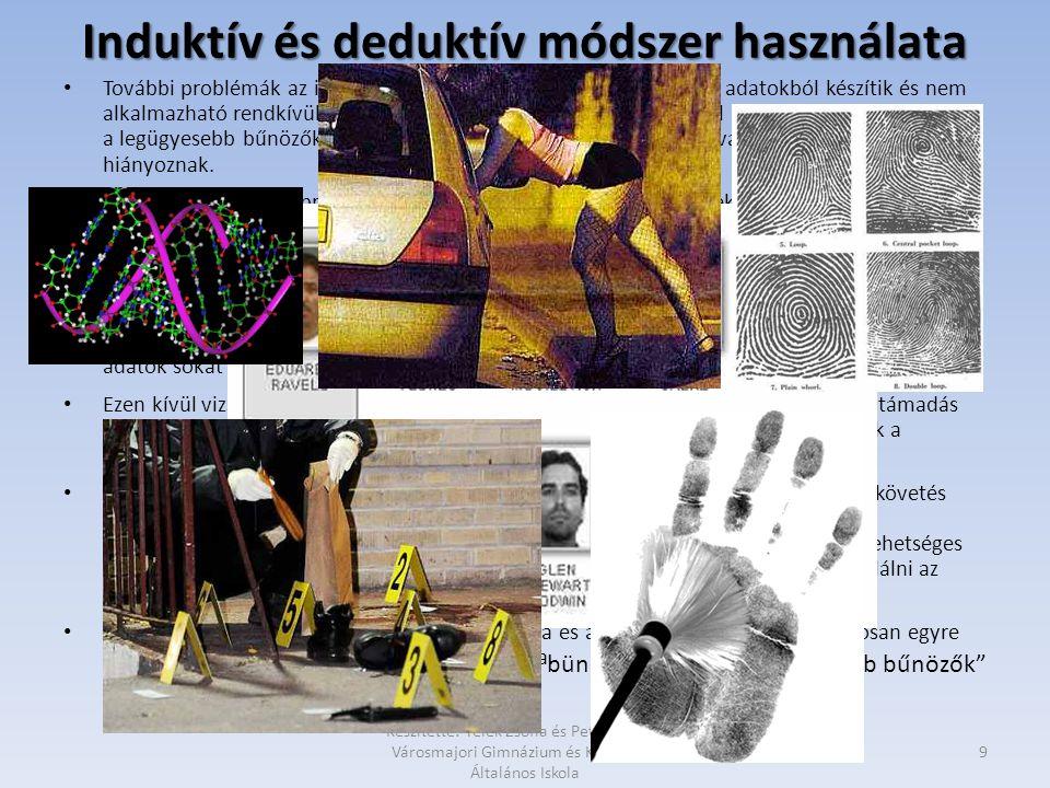 Induktív és deduktív módszer használata • További problémák az induktív okfejtéssel: a statisztikát kis számú adatokból készítik és nem alkalmazható r
