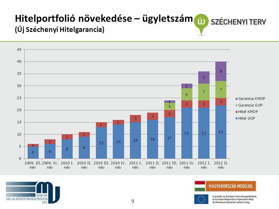 Hitelportfolió növekedése – ügyletszám (Új Széchenyi Hitelgarancia) 9