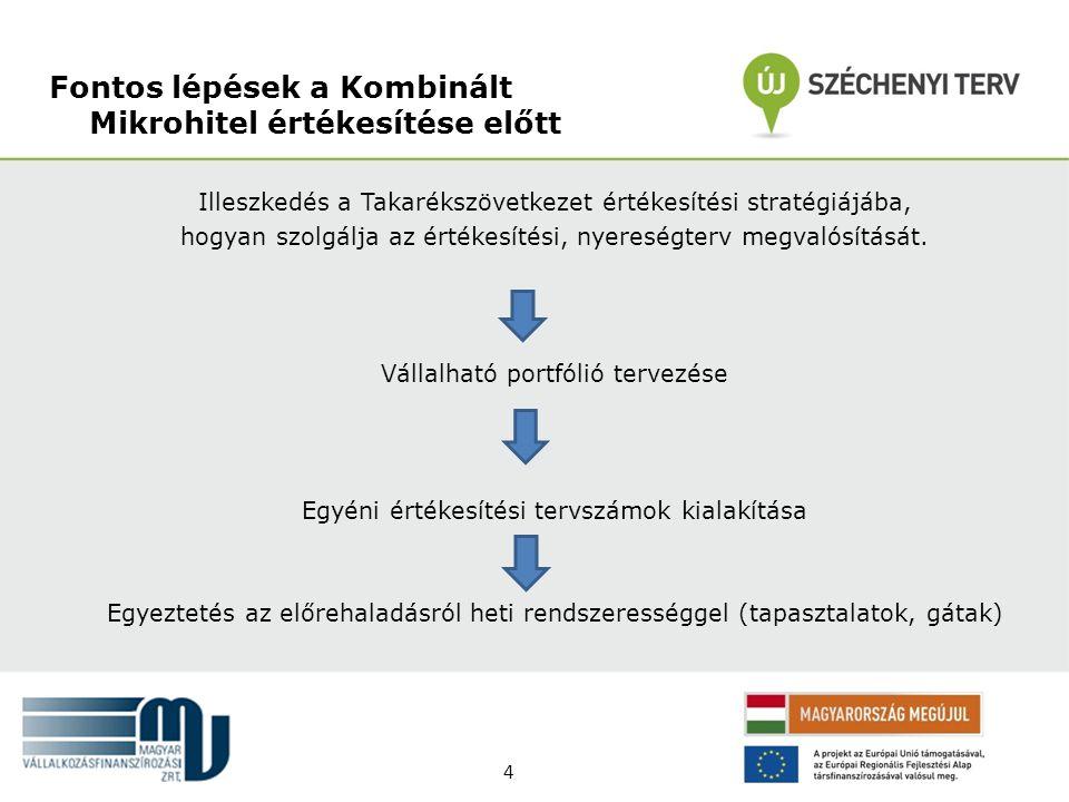 Illeszkedés a Takarékszövetkezet értékesítési stratégiájába, hogyan szolgálja az értékesítési, nyereségterv megvalósítását. Vállalható portfólió terve