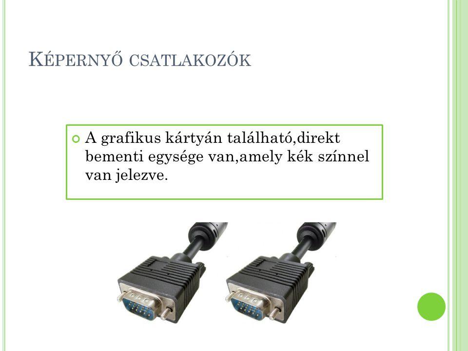 K ÉPERNYŐK TIPUSAI 1.felosztás :a.)katódcsöves képernyők-CRT b.)síkmonitorok: -LCD -LED -GSP 2.felosztás :a.)monokróm képernyők b.)színes képernyők