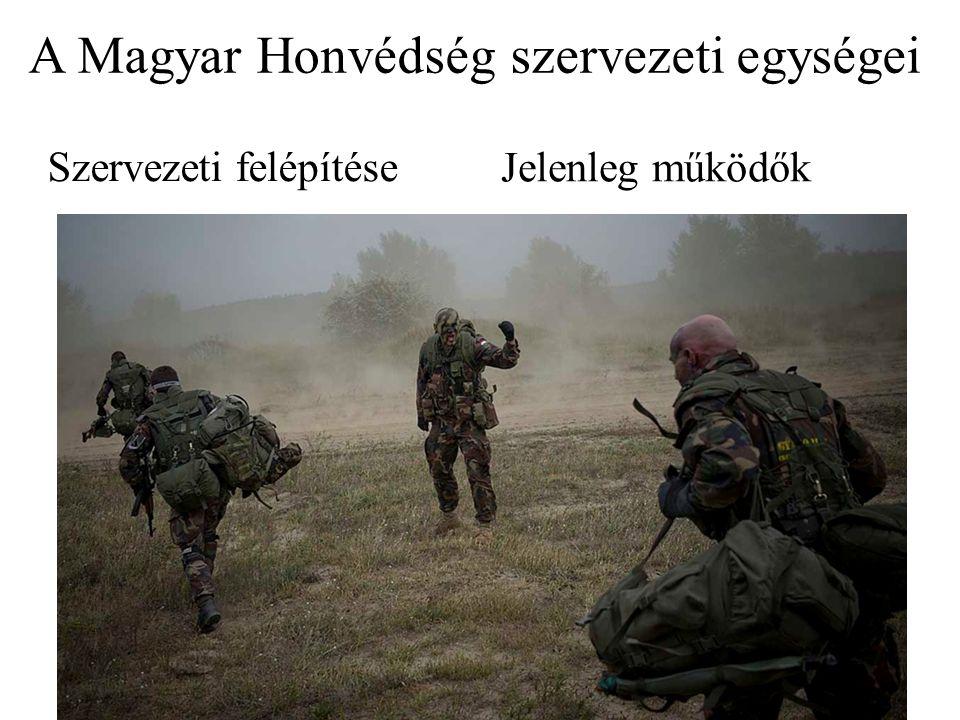 A Magyar Honvédség szervezeti egységei Szervezeti felépítése Jelenleg működők